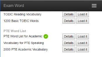 Vocabulary Study Online - PTE