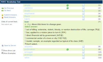 TOEIC Vocabulary Test Online